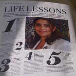 5 Life Lessons as noted in The National newspaper Magazine