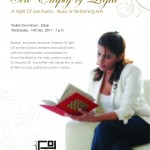 """Cell Empty of Light""by Bahareh, Poetry Recital at The Pavillion, Dubai"