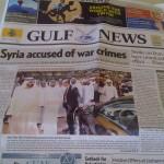 Gulf News…. Bahareh Amidi
