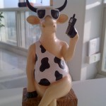 cow on phone picture