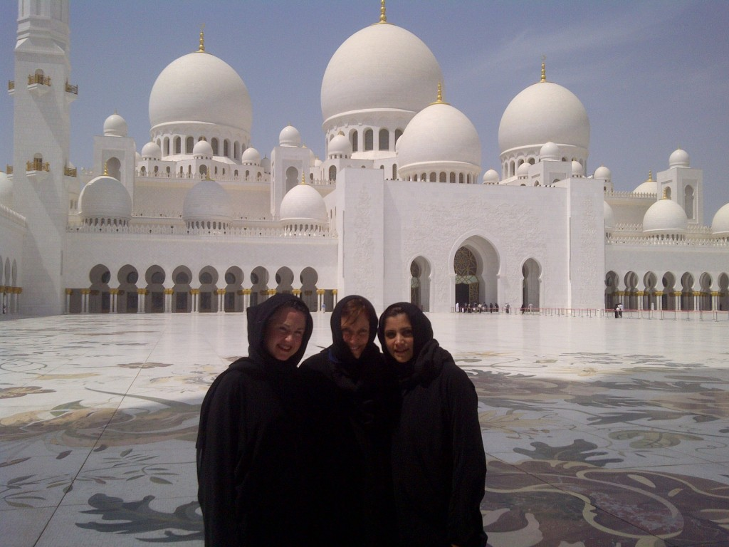 Mosque with friends at Abu Dhabi Book Fair